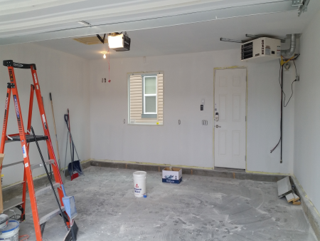 Finished Drywalled Garage
