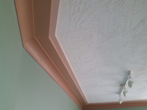 Custom Ceiling Hand Texture with Coving