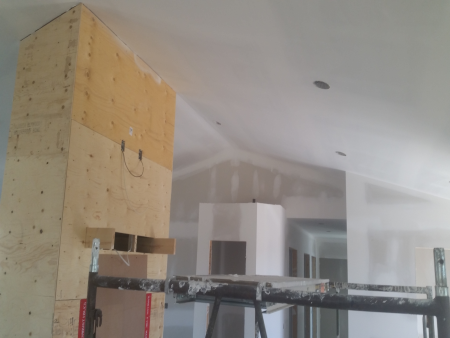 New House Construction Level 5 Ceiling Coated