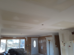 Home Renovation of main floor ceiling