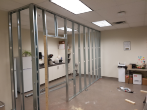 Professional Steel Stud Framing Installation in office space