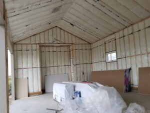 insulation stage in drywall